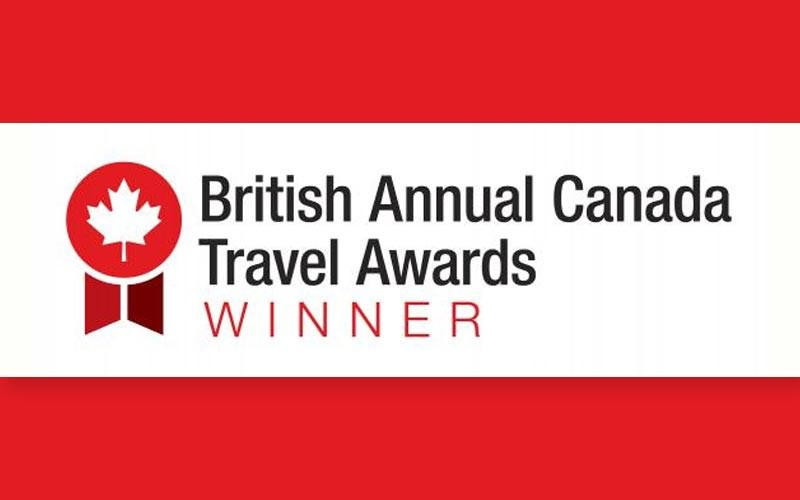 British Canada Travel Award Winner 2017!
