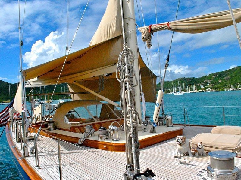 Yacht in Antigua, Caribbean