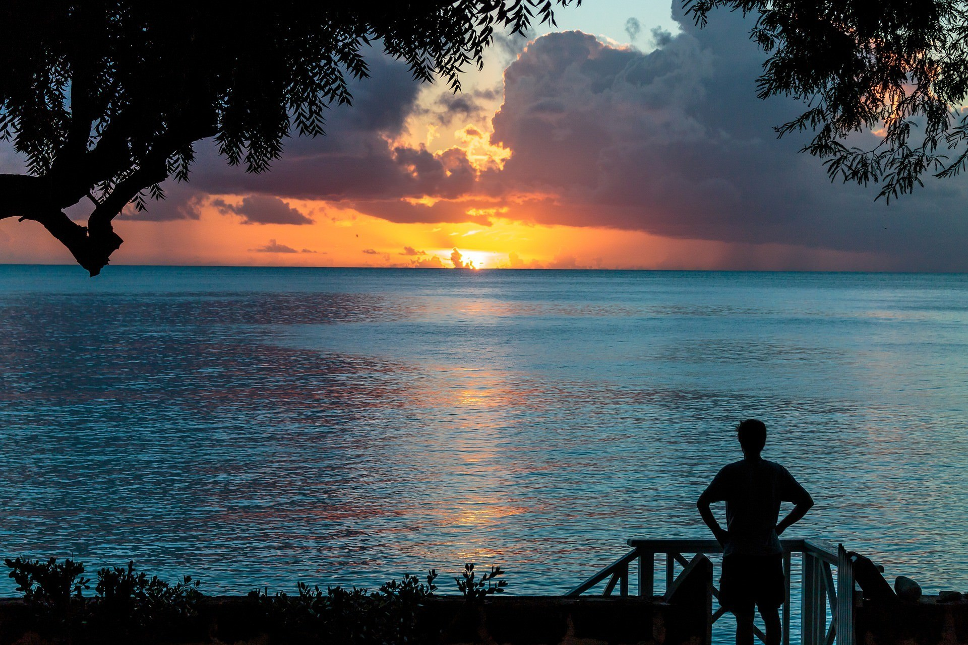 Sunset over the Atlantic in Barbados