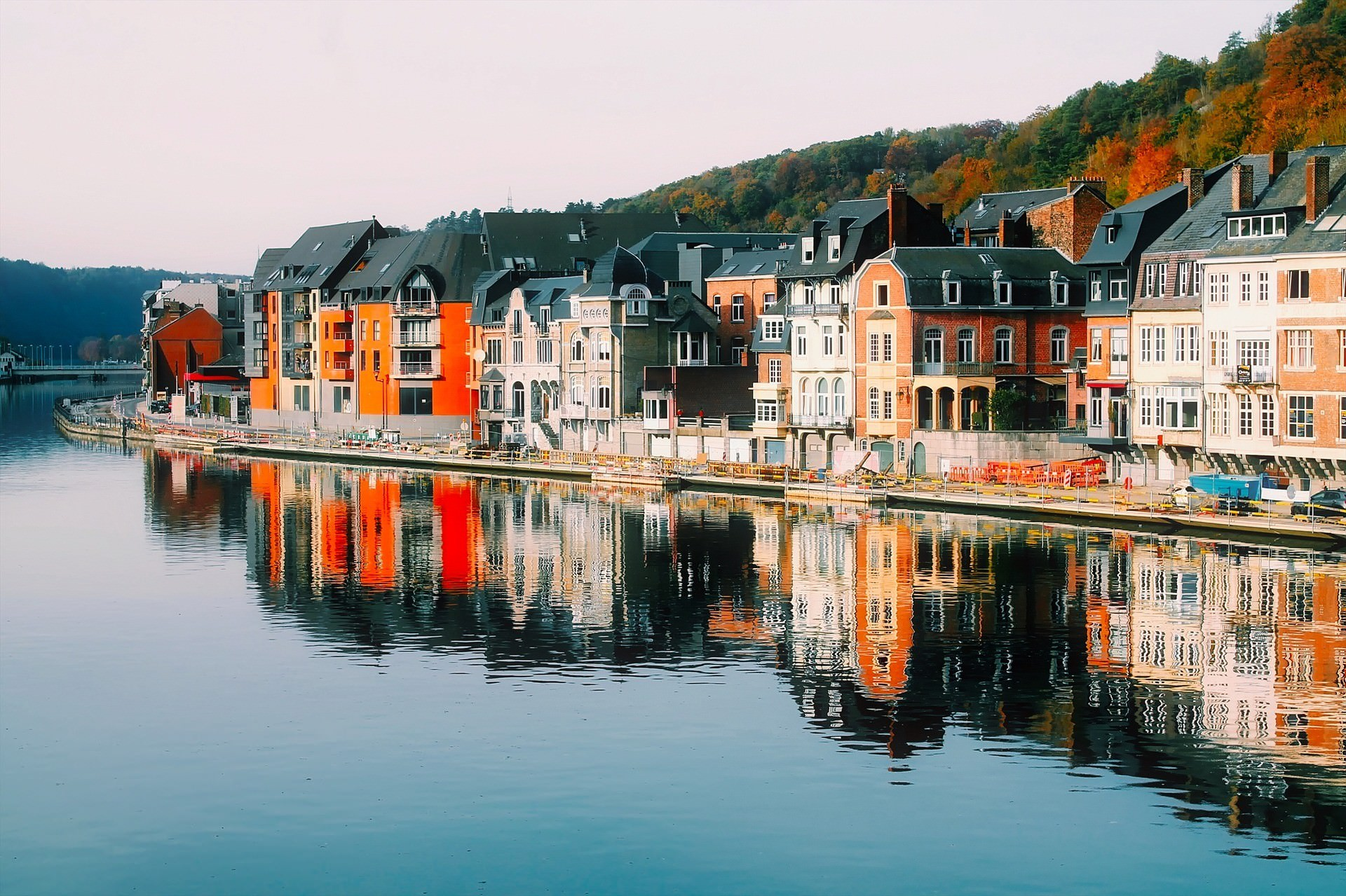 Houses in Dinant Belgium