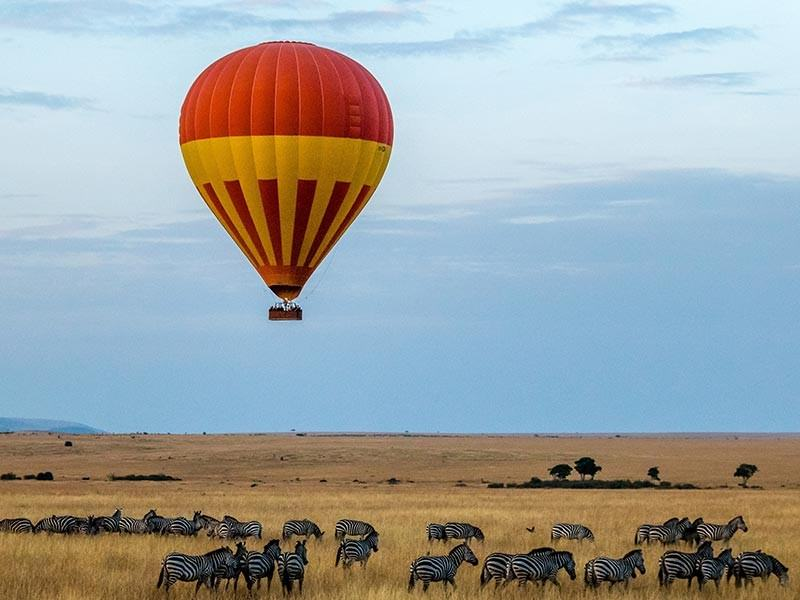 Hot Air Balloon over the Masai Mara in Kenya