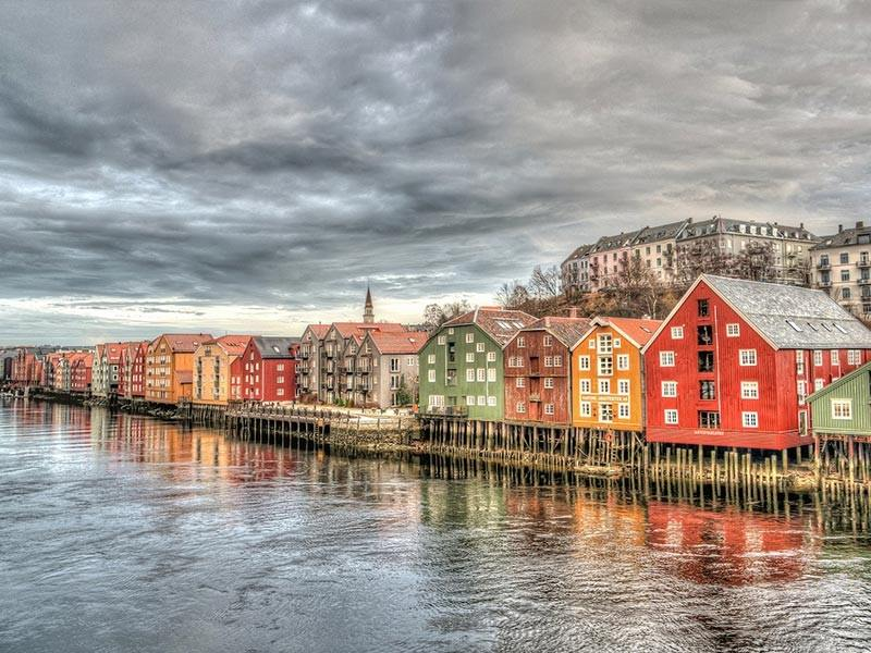 Houses in Trondheim, Norway