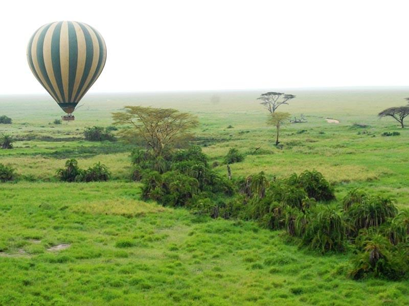 Hot Air Balloon over the Serengeti in Tanzania
