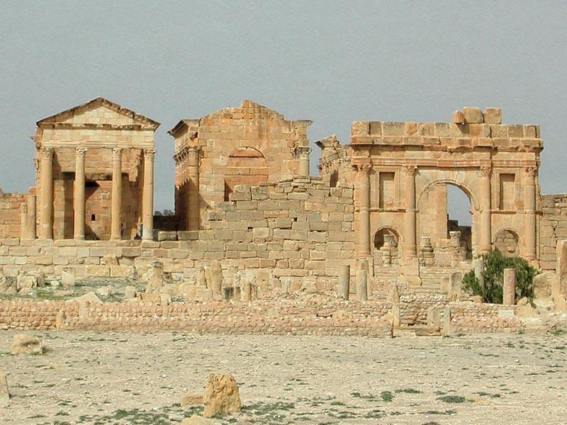 Roman ruins in Sbeitla, Tunisia, Africa