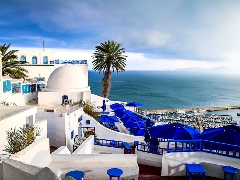 Sidi Bou Said coastline, Tunisia