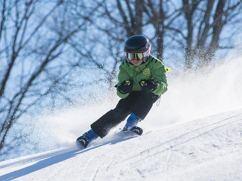 Boy Skiing on Holiday